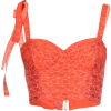 ROSIE ASOULIN orange jacquard top - Camisa - curtas -
