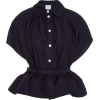 ROSIE ASSOULIN navy belted cotton shirt - Shirts -