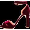 RUPERT SANDERSON red velvet sandal - Sandali -
