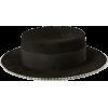 RUSLAN BAGINSKIY black embellished hat - Hat -