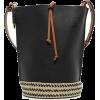 Raffia-Trimmed Leather Loewe bag - Travel bags -