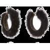 Ranjana Khan Black Mink Hoops - Earrings -