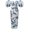 Rasario Floral-Print Satin Midi Dress - Dresses -