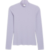 Raw edges turtleneck top - T-shirts -