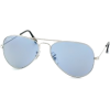 Ray Ban Sunglasses RB3025 Aviator Large Metal W3237 Silver/Crystal Light Blue, 55mm - Sunglasses - $125.10  ~ 107.45€