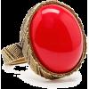 Read Bead Ring Rings Red - Rings -