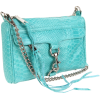 Rebecca Minkoff  Mini Mac Clutch Snake Clutch Aquamarine - Clutch bags - $195.00