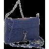 Rebecca Minkoff  Mini Mac Clutch Snake Clutch Blue - Clutch bags - $195.00