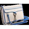 Rebecca Minkoff  Mini Mac Clutch Two Tone Clutch White - Bolsas com uma fivela - $195.00  ~ 167.48€