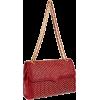 Rebecca Minkoff Circle Quilt Affair Shoulder Bag Blood Red - Bag - $395.00