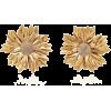 Rebecca De Ravenel Metal Petal Flower Ea - Ohrringe -