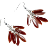 Red Czech Dagger Bead Waterfall Earrings - 耳环 - $13.95  ~ ¥93.47
