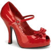 Red Open Toe Mary Jane Pump - 6 - Sandals - $42.50