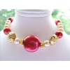 Red Pearl Gold Bracelet - Pulseiras - $48.00  ~ 41.23€