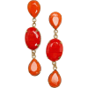Red Stone Earrings Earrings Red - Naušnice -