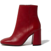 Red Ankle Boots - Boots -