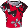 Red Black Cropped Graphic Tee - T-shirt - $46.00  ~ 39.51€