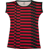 Red Black Short Sleeve Striped Tee - Magliette - $52.00  ~ 44.66€