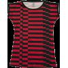 Red Black Short Sleeve Striped Tee - T-shirt - $52.00  ~ 44.66€