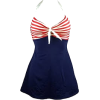 Red & Blue One Piece - Swimsuit -