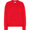 Red Cashmere Sweater - Pullovers -
