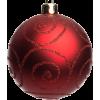 Red Christmas bauble - Przedmioty -
