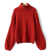 Red Chunky Sweater - Puloveri -