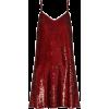 Red. Dress. Sequins - Платья -