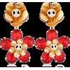 Red Flower Design Women Earrings - Серьги - $2.26  ~ 1.94€