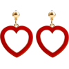 Red Heart Earrings - Earrings -