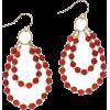 Red Hoop Earrings - イヤリング -
