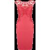 Red Lace Pencil Dress - Vestiti -