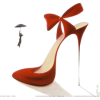 Red Narrow Heels - Classic shoes & Pumps -
