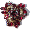 #Red #Rhinestone #Brooch #KRAMER - Other jewelry - $79.00  ~ 67.85€