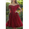 Red Short Lace Prom Dresses - Dresses - $120.52