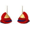 Red Silky Flaire Earrings - Aretes -