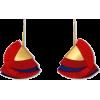Red Silky Flaire Earrings - Earrings -
