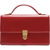 Red Top Handle Bag - Hand bag -