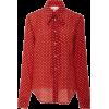 Red Valentino Polka Dot Tie Blouse - Long sleeves shirts -