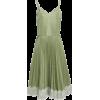RedValentino green pleated dress - Dresses -