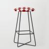 Red White Checker Bar Stool - My photos - $199.00
