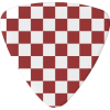 Red White Checker Guitar Pick - Other - $13.55