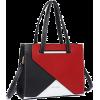 Red black white tote handbag - Hand bag -