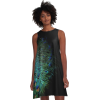 Redbubble A-Line Dress Peacock Feather - People - $42.16