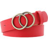 Red double o ring belt - Belt -