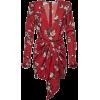 Red dress. Roses - Vestidos -