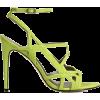 Reiss High Heel Lime Sandals - Sandale -