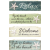 Relax By the Beach Wall Plaques-Set of 4 - Ilustracije - $28.88  ~ 183,46kn