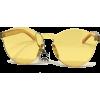 Retro Modern Rimless Sunnies-Yel - Sunglasses - $19.00
