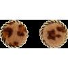 Retro Leopard Print Plush Round Earrings Nhjq284949 - Naušnice -